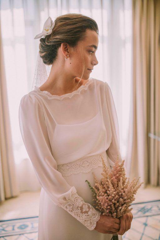 Peinado de novia boda civil