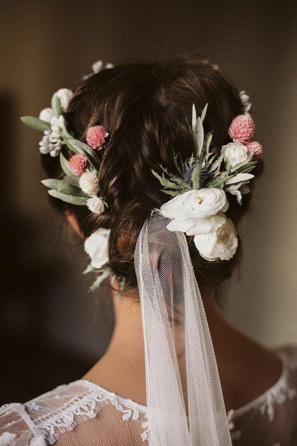 peinado novia romántica