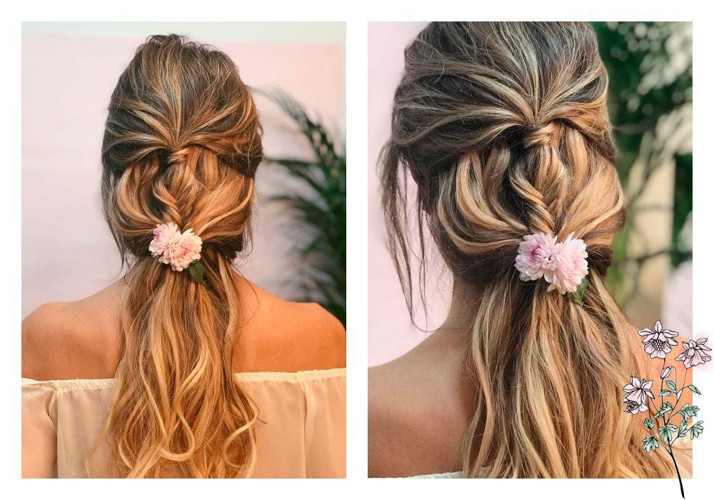 Los 5 Peinados Con Flores Que Querras Lucir Si O Si En Tu Boda Oui