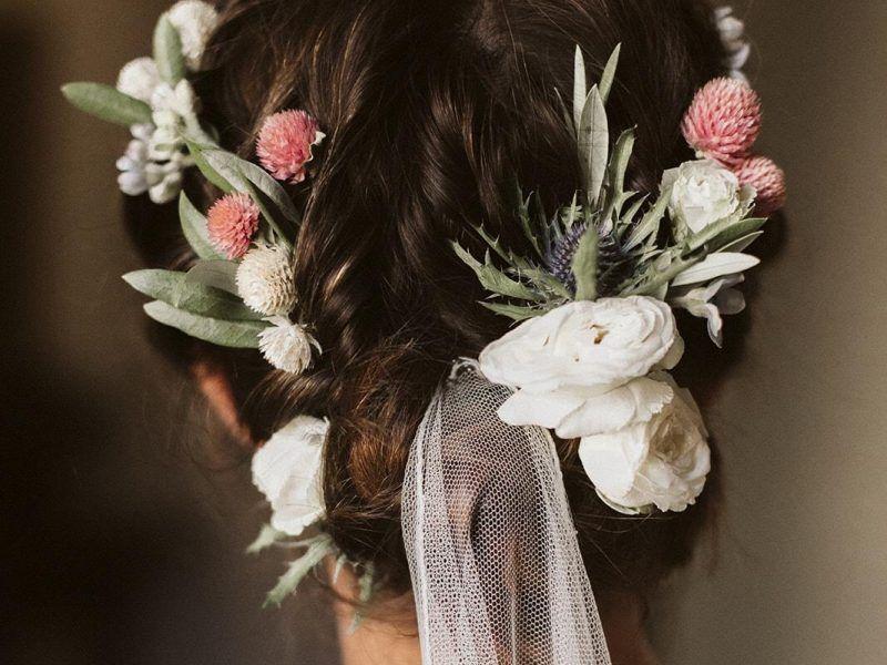 peinado flores naturtales