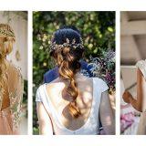 Peinados de novia 2019 para espaldas en V.